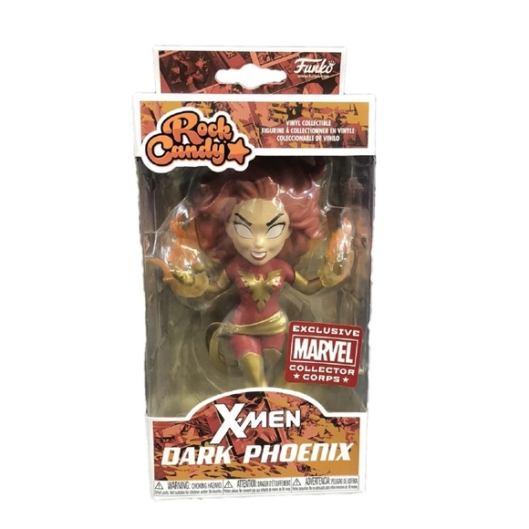 Marvel X-Men Vinyl Figure Funko Rock Candy New in Box DARK PHOENIX